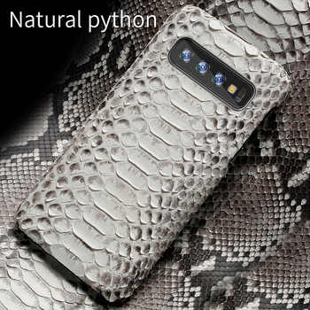 Genuine Python Leather phone case For Samsung galaxy s10 S10 Plus S9 s7 s8 Plus Snakeskins cover for a50 A70 a8 a7 2018 Note 10 - DISCOUNT ITEM  20% OFF All Category