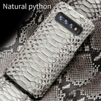 Genuine Python Leather phone case For Samsung galaxy s10 S10 Plus S9 s7 s8 Plus Snakeskins cover for a50 A70 a10 a30 a8 a7 2018
