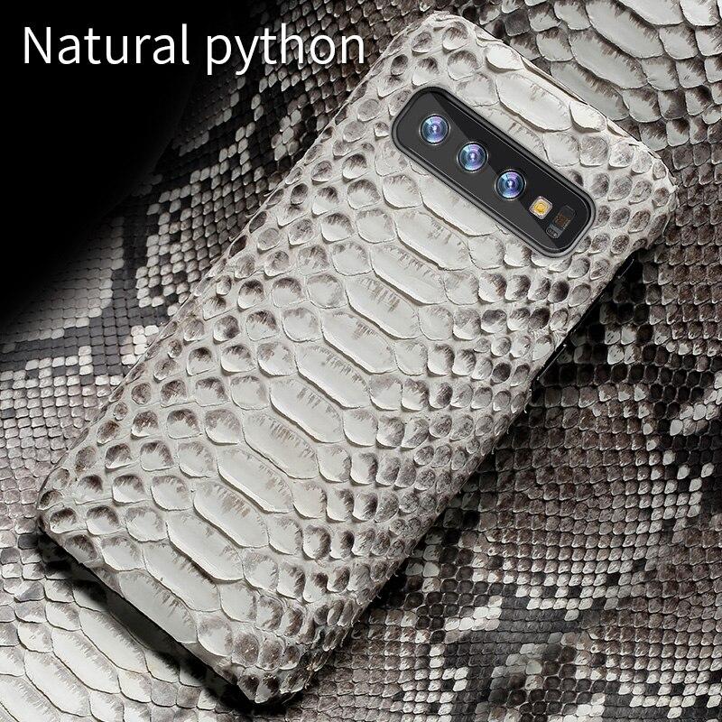 Из натуральной кожи питона кожаный чехол для телефона для samsung galaxy s10 S10 плюс S9 s7 s8 плюс Snakeskins Крышка для a50 A70 a8 a7 2018 Примечание 10 S10E S10 Plus S8 Plus S7 Edge S9 Plus Note 10 plus 9 8 A10 A20