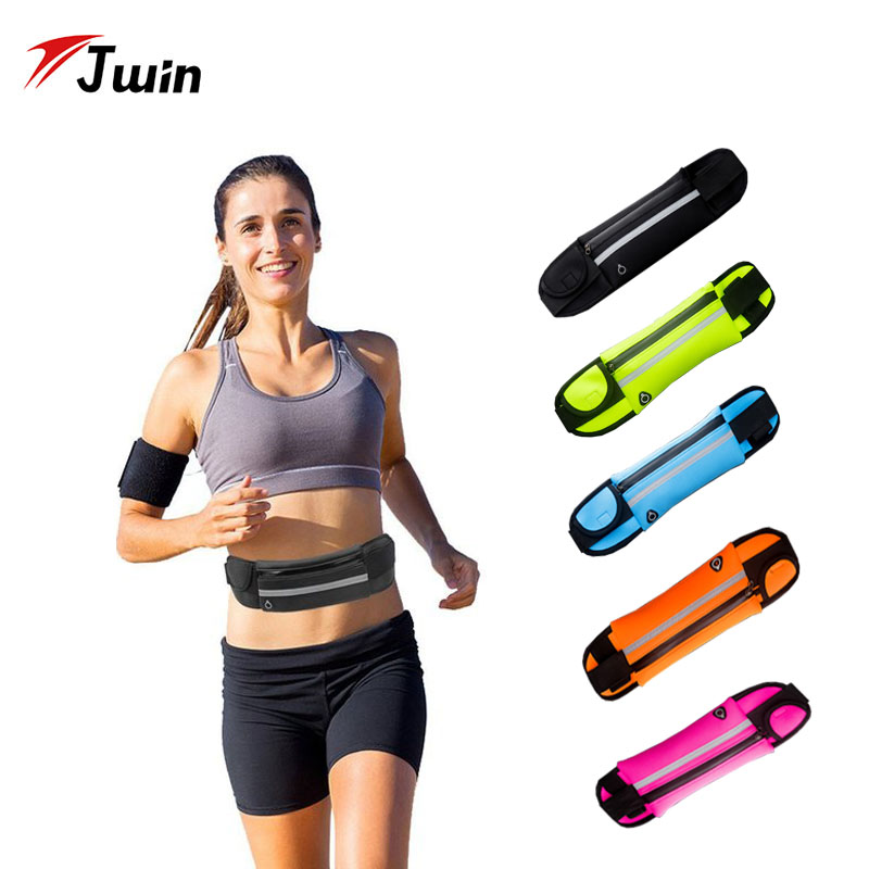 Jwin Running Waist Bag Waterproof Anti-theft Mobile Phone Holder Invisible Kettle Belt Belly Bag Running Cycling Jogging Bag