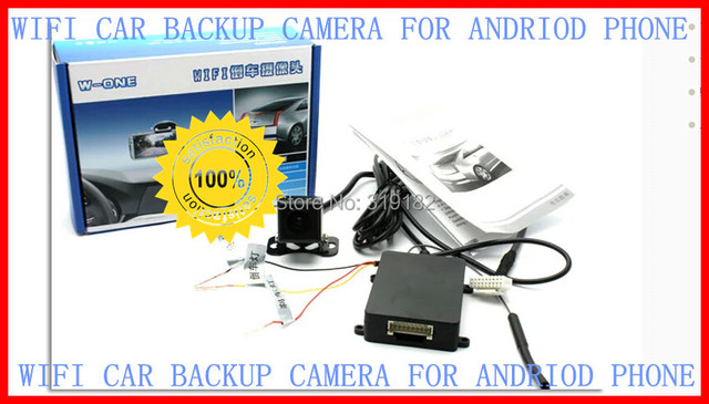"""WiFi Backup Camera for Android phone,WIFI in Car Backup Rear View Reversing Camera 1/3"""" Cmos Cam For Andriod Phone easy install"""
