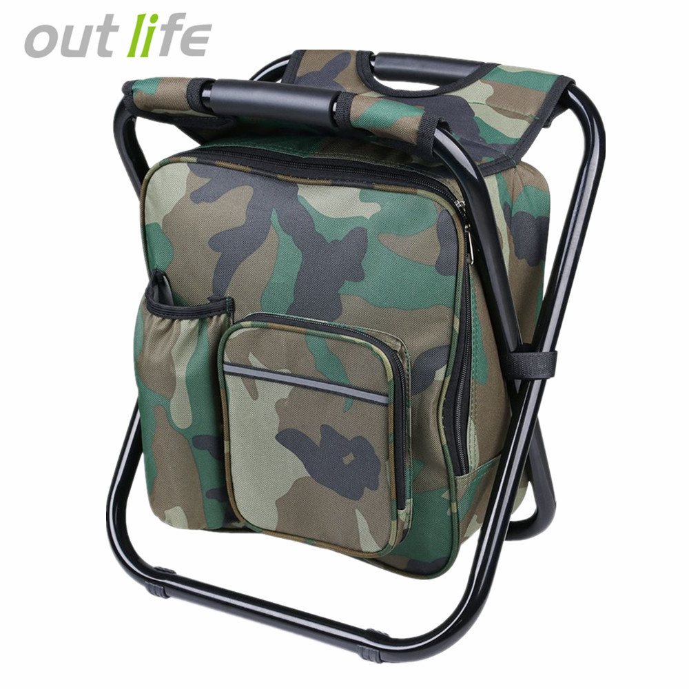 Portable Folding Fishing Chair Compact With Backpack Cooler Bag Stool Beach For Camping Hiking Picnics In Chairs From Sports
