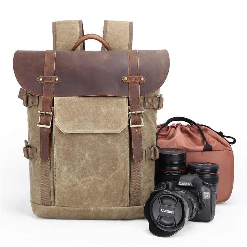 Batik Scratch-proof Câmera Fotográfica Saco de Lona À Prova D' Água Ao Ar Livre Portátil De Vídeo DSLR Mochila Homens para Nikon/Canon/ sony/Fujifilm