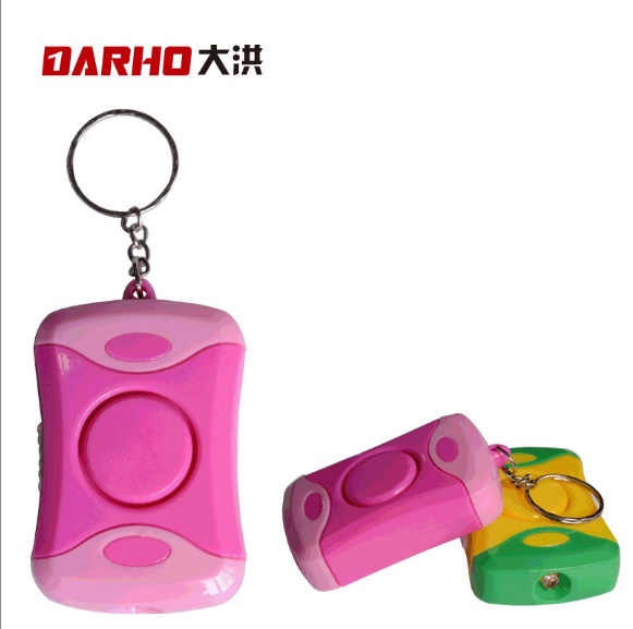 DARHO Personal Alarm Safe Sound Emergency Self-Defense Security Alarm Keychain LED Flashlight for Women Girls Kids Exploer personal guard safety security siren alarm with led flashlight white 2 cr2032
