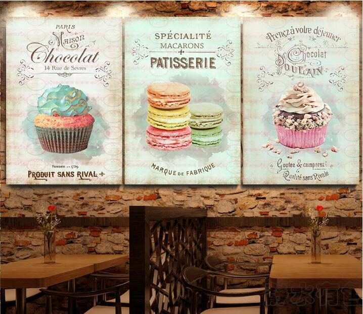 Modern Retro Abstract Restaurant Dessert Bread Poster Unframed Canvas Painting Home Decoration Kitchen Wall Art Picture In Painting Calligraphy From Home Garden New Year Decor Wall