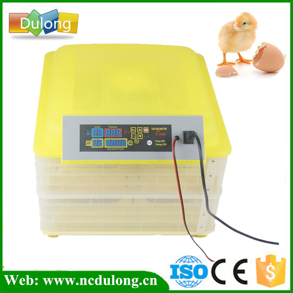 Automatic Temperature Controller Wholesale And Retail 220V 12V 96 Eggs Incubator Mini Full Digital Incubator Machine For Sale  temperature controller digital temperature controller for incubator 48 48 70mm spg 6000