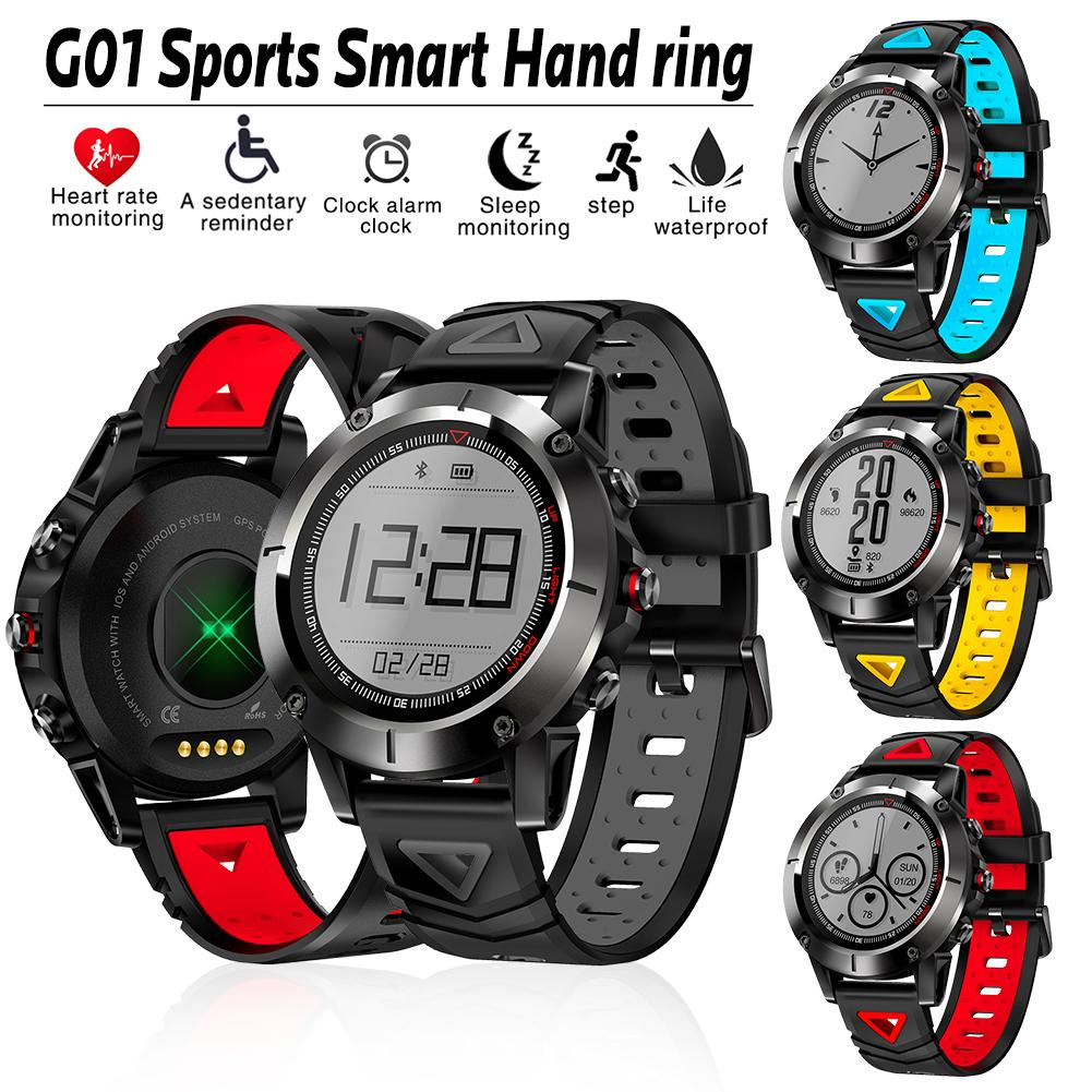 Fashion G01 Sports Smart Watch Bracelet Support GPS Positioning Heart Rate Monitoring Step Count IP68 Waterproof цена и фото