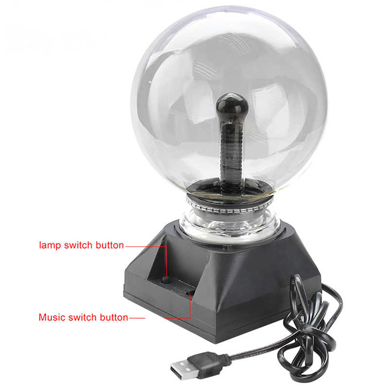 1 шт. Новинка Освещение Стекло магический плазменный шар свет настольная лампа Сфера ночник детский подарок на Новый год Рождество Волшебная Ночная лампа
