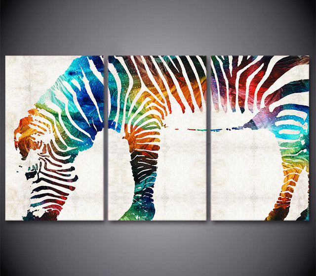3 piece canvas art zebra print canvas painting framed wall art canvas poster and prints wall