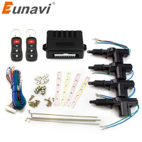 Eunavi Universal Auto central lock Car Power Door Lock Actuator 12 Volt Motor (4 Pack) Car Central Locking Keyless Entry System