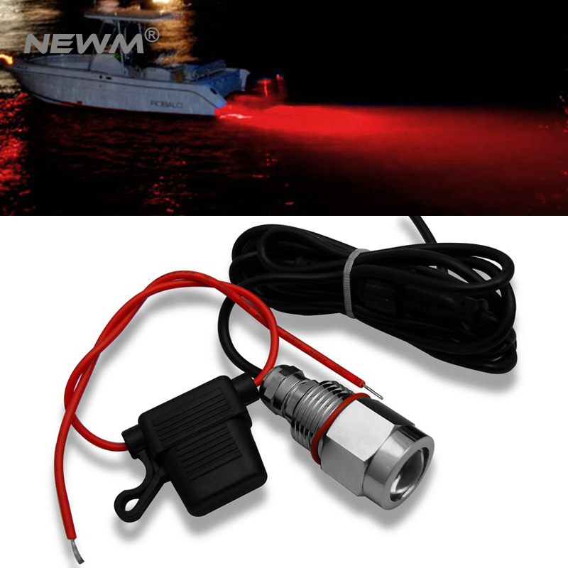 Free Shipping Best Service White 9W LED Boat Drain Plug Light 9W LED Yacht And Boat Light 750LM Underwater Light for Yacht