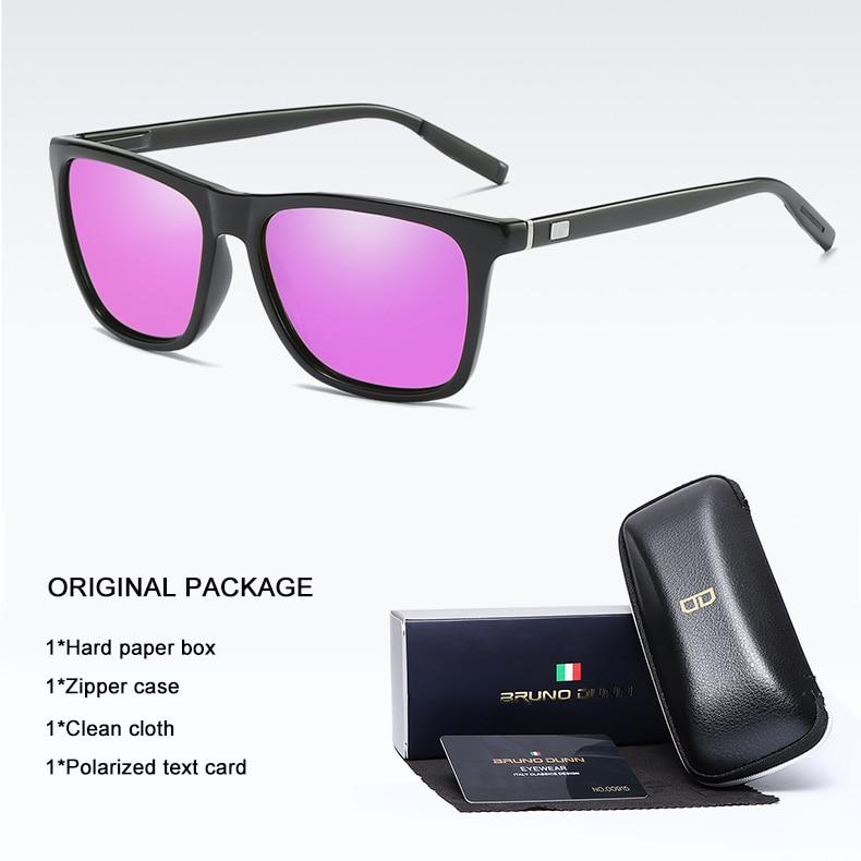 Bruno Dunn Brand Unisex Retro Aluminum+TR90 Sunglasses Polarized Lens Vintage Eyewear Accessories Sun Glasses For Men/Women 6108