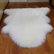 Nouvelle peau de mouton entier laine coussin pure laine tapis dans le salon canapé coussin pad woolfell type