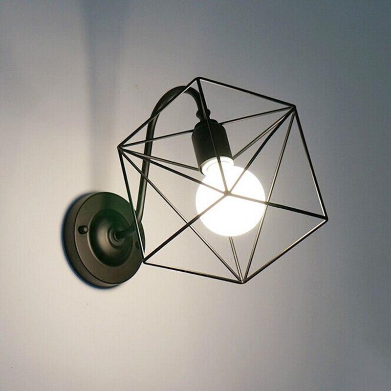 Винтажная железная клетка, настенная лампа, Ретро стиль, лофт, прихожая, лестница, лампе, настенный светильник для ванной комнаты, бра с аппл