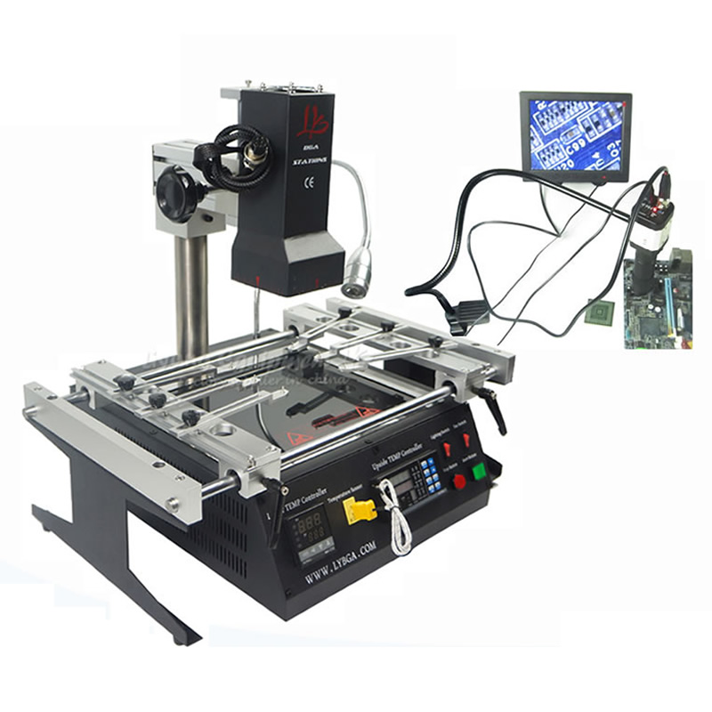 LY IR6500 V.2 Infrared BGA Rework Station Reballing Machine with CCD Camera System for Motherboards Repairing ly m770 infrared bga rework station bga reballing machine suitable for leaded