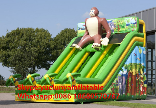 (China Guangzhou) manufacturers selling inflatable slides,Monkey slides KY-698