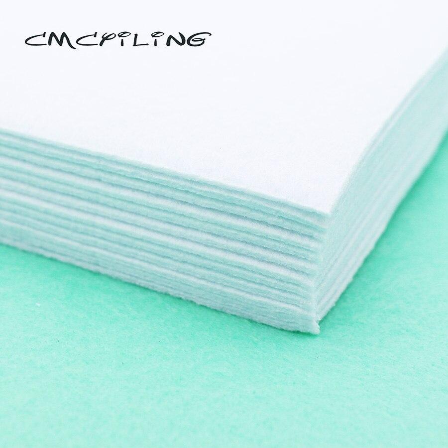 CMCYILING 10Pcs/Set 20*30cm White Felt 2 MM Thickness Polyester Cloth For DIY Sewing Crafts Scrapbook Felt Sheet Fabric
