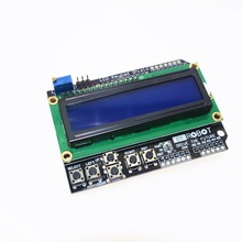 1PCS LCD Keypad Shield LCD1602 LCD 1602 Module Display For Arduino ATMEGA328 ATMEGA2560 raspberry pi UNO blue screen(China)