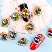 Blueness 10Pcs Lot Colorful Crystal Accessories Alloy Metal Crown Design  Glitter 5561d0b25942