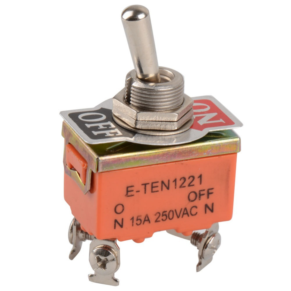 1 PCS New 4-PIN Toggle Switch ON-OFF Two Position Switch 15A 250V VE147 P 1 pc new red 9 pin on off on 3 position mini toggle switch ac 6a 125v 3a 250v ve521 p