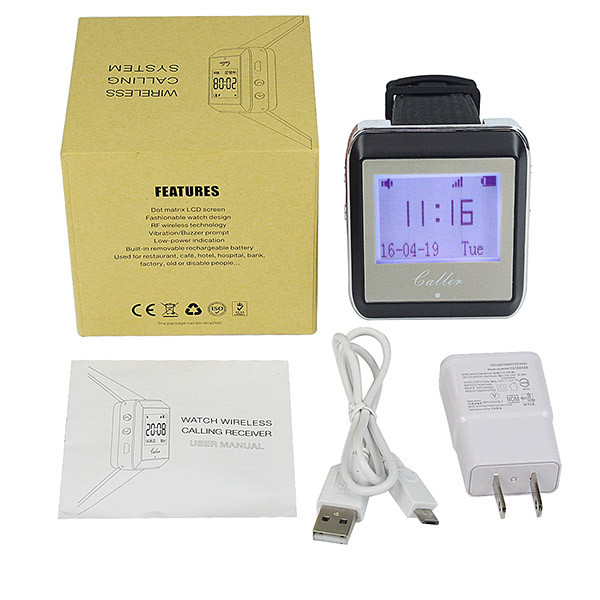 Hot Wireless Watch Calling Receiver Call Pager System (2)