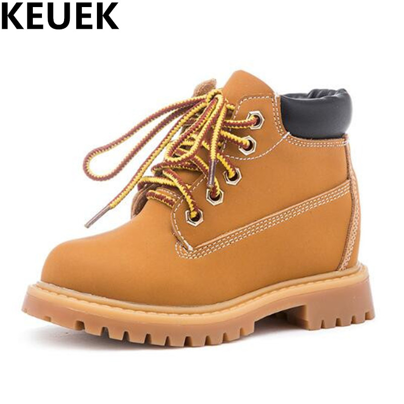 NEW Winter Warm Genuine Leather Children Motorcycle boots Boys Girls Martin boots Baby Snow Boots Kids Shoes Student 044 new 2015 botas infantil pu leather boys girls rubber boots for children martin boots kids snow boots sneakers hot item