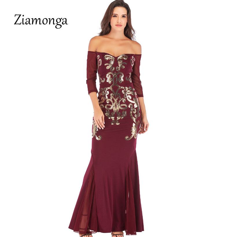 Ziamonga Off Shoulder Black Red Christmas Party Dresses