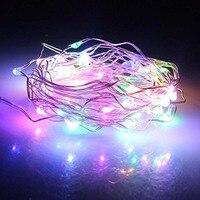 16.4FT 50 diod led lampki led na drucie miedzianym na baterie wielu kolorowego sznurka światło idealne dla festiwalu Party boże narodzenie jest w Sznur lamp LED od Lampy i oświetlenie na
