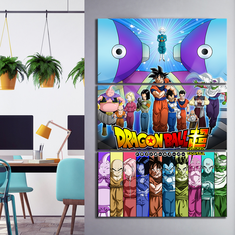 3 Piece Anime Movie Posters Universe Survival Dragon Ball Super Animation Art Canvas Paintings for Home Decor 3