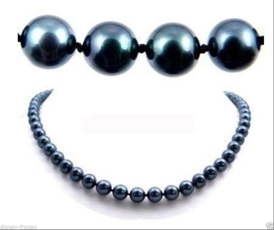 AAA 20 9-10MM TAHITIAN black pearl necklace 14k/20 gold clasp hand knottedAAA 20 9-10MM TAHITIAN black pearl necklace 14k/20 gold clasp hand knotted
