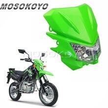 Vert Off Route Pit Dirt Bike Motocross Phare Avant Lampe Pour Kawasaki KLX 150 KX 65