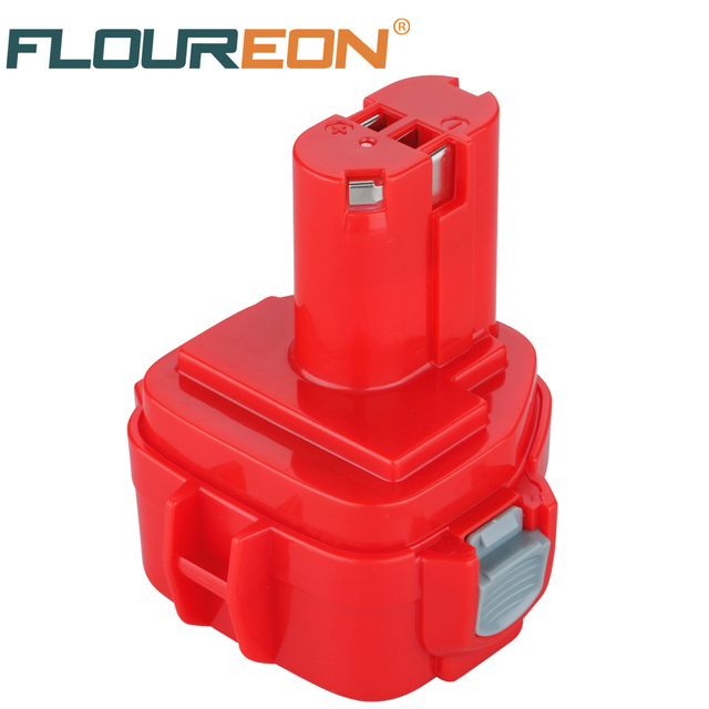 For Makita 12V 3000mAh FLOUREON Ni-MH Power Tools Battery 192681-5 Rechargeable Replacement Cordless for Drill PA12 1050D 8413D