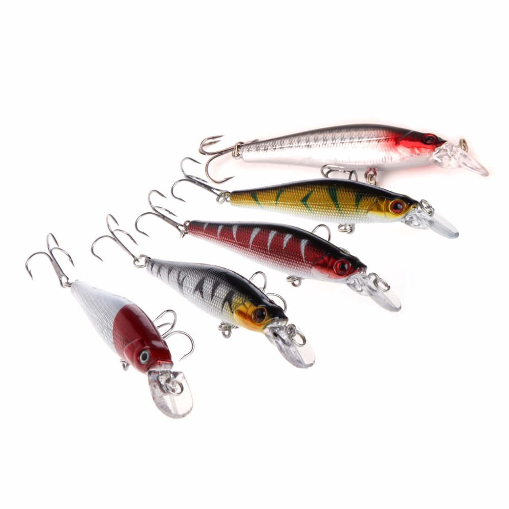 Fishing Lure Minnow Crankbait Artificial Hard Swim Bait Hook Tackles 3D Eyes New 1pcs 16 5cm 29g big minnow fishing lures deep sea bass lure artificial wobbler fish swim bait diving 3d eyes