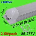 2-50/Paquete de tubo de luz LED 2ft 3ft 4ft 5ft 6ft 8ft T8 integrado bombilla lámpara montada en superficie 0,6 m 0,9 m 1,2 m 1,5 m 1,8 m 2,4 m lámpara