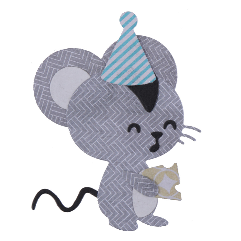 Male Mouse  Wearing A Hat Metal Cutting Dies For DIY Scrapbooking Photo Album Paper Cards Decorative Crafts Embossing Die Cuts