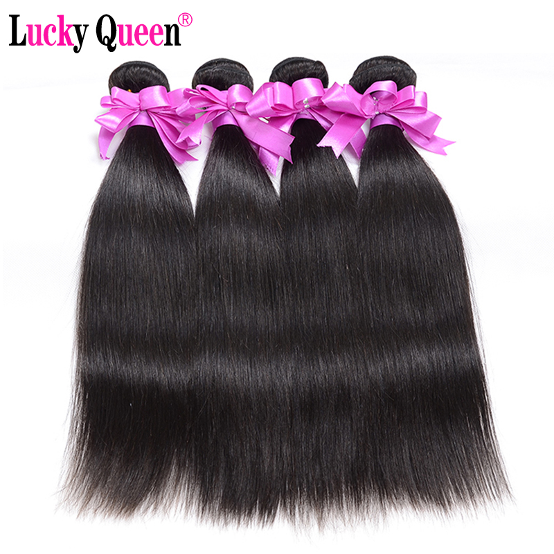 Malaysian Straight Hair 4 Bundles Deal 100 Human Hair Extensions No Remy Hair Weave Bundles Soft