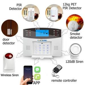 Image 3 - אלחוטי GSM מערכת אזעקת 433MHz בית פורץ אבטחת אזעקת דלת חיישן תנועת חיישן אזעקות אנדרואיד IOS APP אינטרקום סירנה