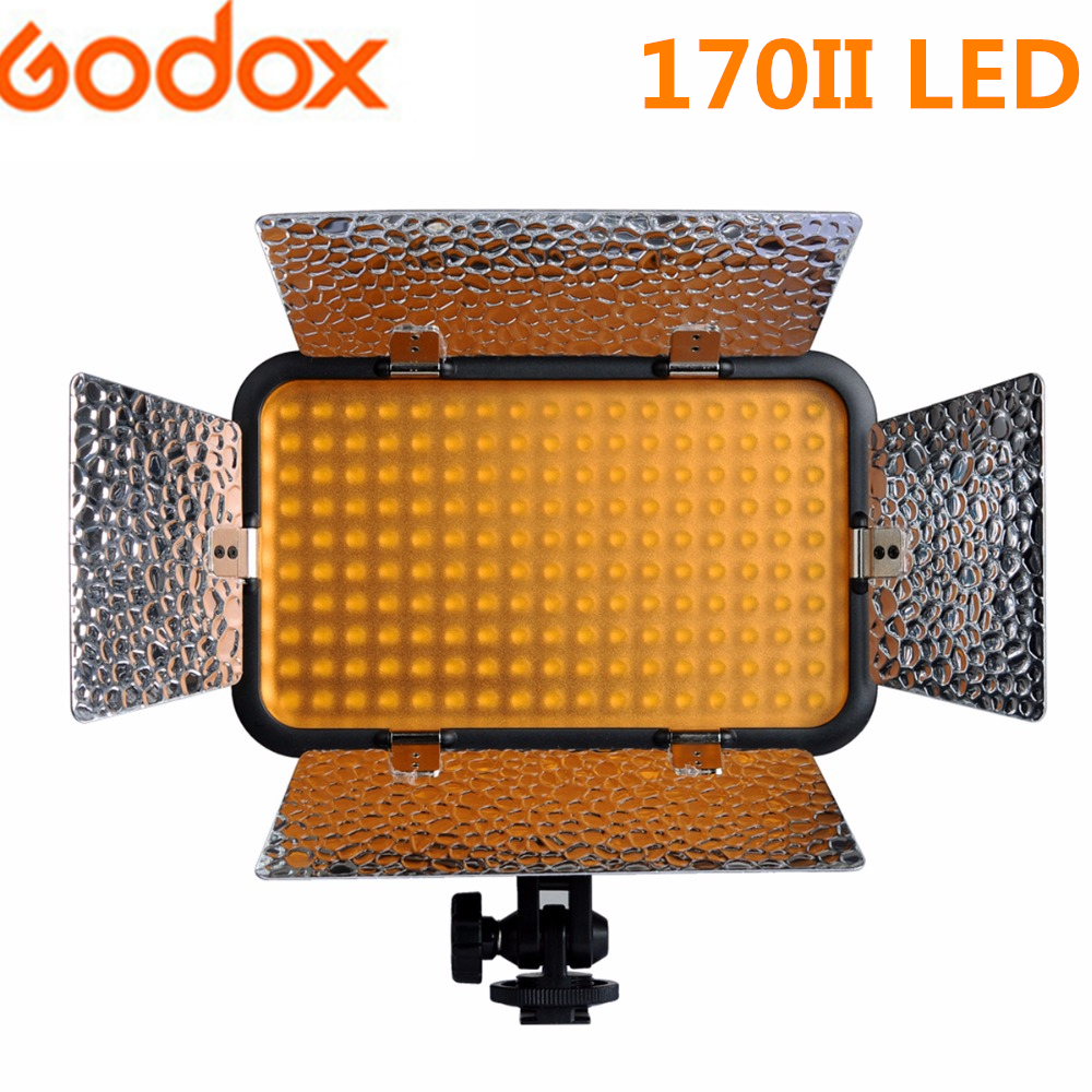 Godox 170II LED Light Dimmable 5500-6500K Photo Video Lamp Lights For Photography Digital Camera Camcorder DV Canon Nikon Sony