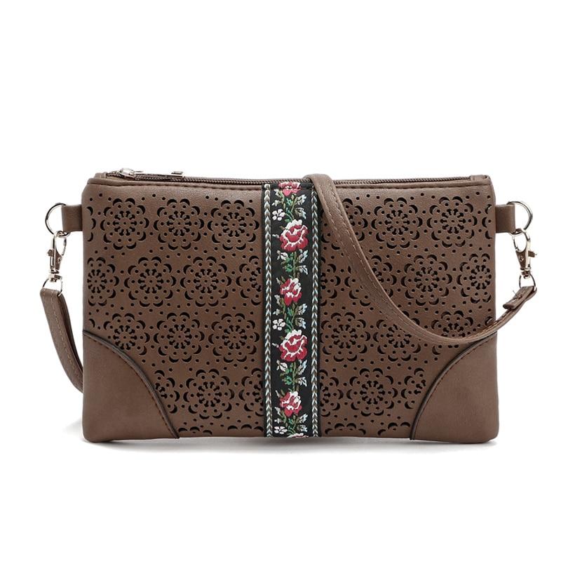 2016 Vintage Hollow Out ženske torbe za ženske cvetlične rame - Torbice - Fotografija 2