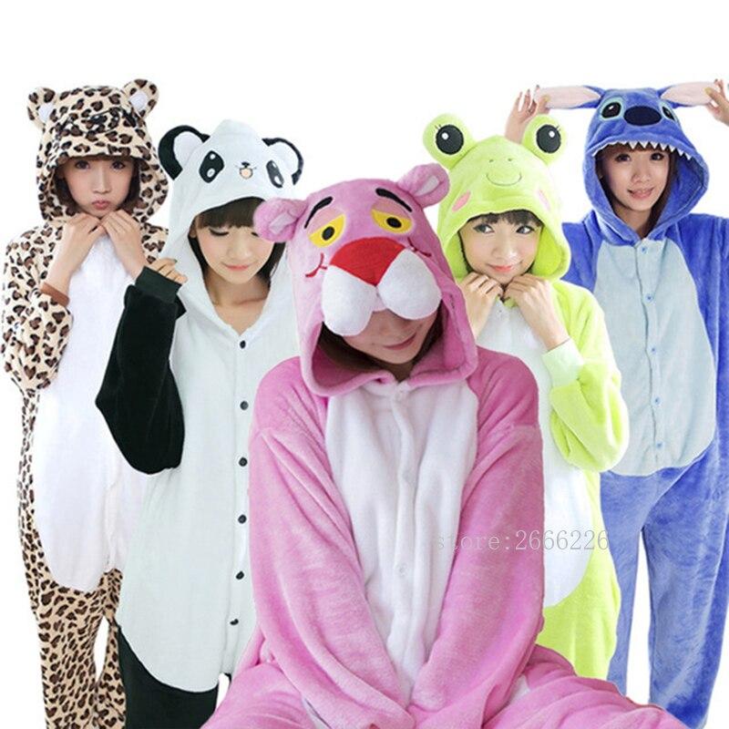 kigurumi Unicorn   Pajamas     Sets   Flannel Cute Animal   Pajamas     set   Women Winter Flannel Nightie Cosplay Pyjamas Sleepwear Onesies
