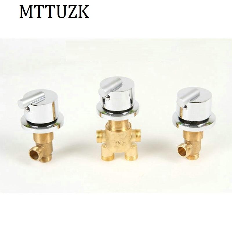 MTTUZK heißer und kaltem wasser Messing schalter ventil für Badewanne wasserhahn dusche mixer, badewanne wasserhahn set, bad wasserhahn regelventil