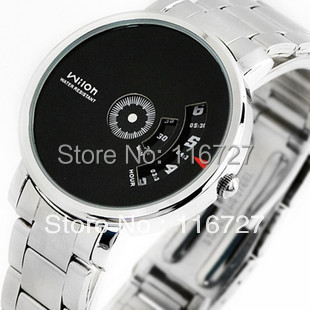 Original fashion CHINO WILON brand stainless steel strip quartz watch dizzy male Wristwatches Korean men's watch 938 liaopijiang bao gangshi used ar5890 ar5905 ar5906 stainless steel strip rubber fashion 20 23mm