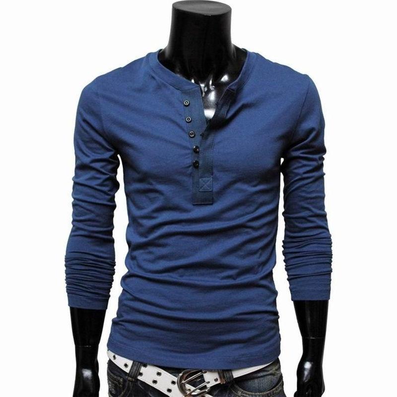 Online Get Cheap Long Sleeve Henley Shirts for Men -Aliexpress.com ...
