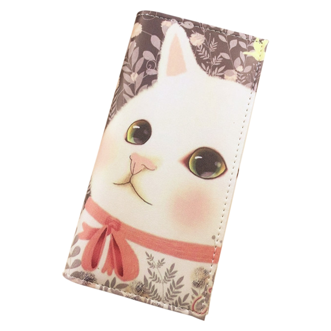 Female Purse Cartoon Pussy Cat Women Printed Wallets wiggle and giggle pussy cat pussy cat what can you see