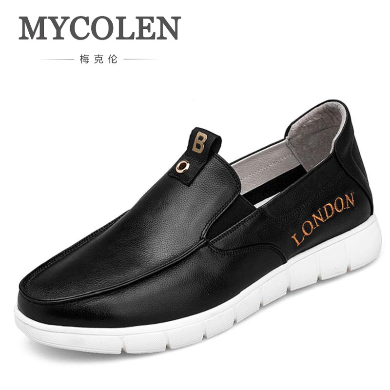 MYCOLEN Italian Men Casual Shoes Summer Genuine Leather Men Loafers Moccasins Slip On Men's Breathable Male Shoes Tenis Branco 2017 new spring imported leather men s shoes white eather shoes breathable sneaker fashion men casual shoes