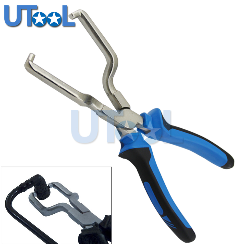 UTOOL Fuel Feed Pipe Plier Fuel Line Piler Petrol Clip Pipe Hose Release Disconnect Removal Tool water pipe hose removal installer tool clip clamp plier for vw audi vag1921