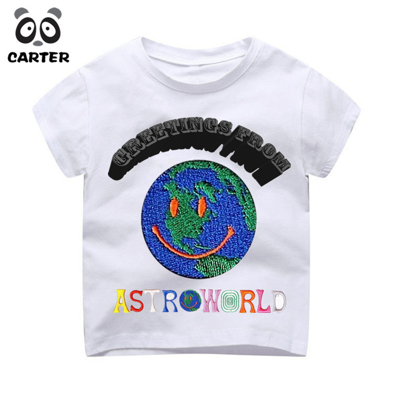 93e72957fcb9 2 9 Year Kid's Travis Scott Astroworld GOV BALL NYC Print T shirt Boy Girl  Summer Hip Hop Top Tee Baby Girl Clothes Camisetas-in T-Shirts from Mother  & Kids ...