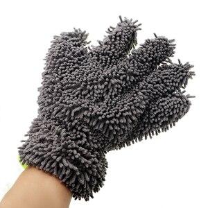 Image 5 - LEEPEE guantes de lavado para coche, herramienta de lavado de microfibra suave para ventana, cuidado automático, accesorios para coche, uso de limpieza del hogar