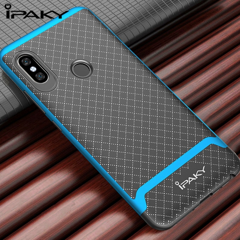 2Pcs/Lot IPAKY 360 shockproof Cases For Xiaomi Redmi note 5 / Note 5 Pro Case Silicone TPU Soft Back Cover Case With PC Frame