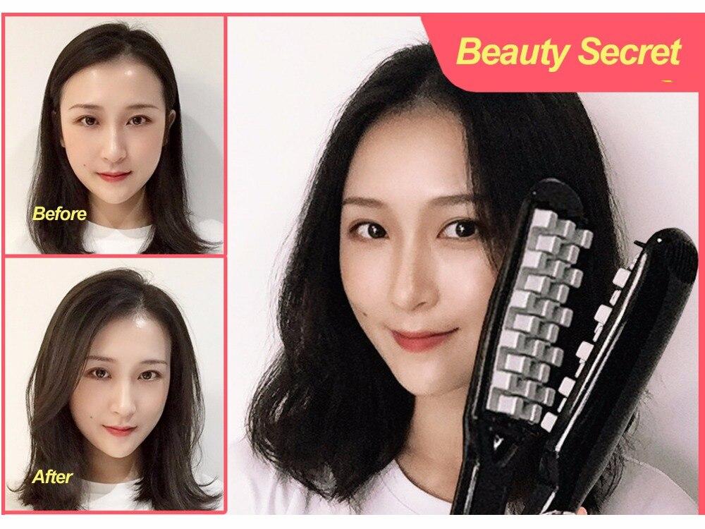 Nueva pantalla LCD Venta caliente pelo Volumizing de hierro plancha de pelo Digital plana de pelo de herramientas